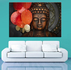 Buddha Portrait With Shell