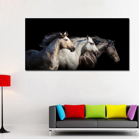 Image of Modern Style Horses Wall Art