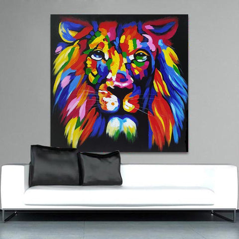 King Of Color Canvas Wall Art