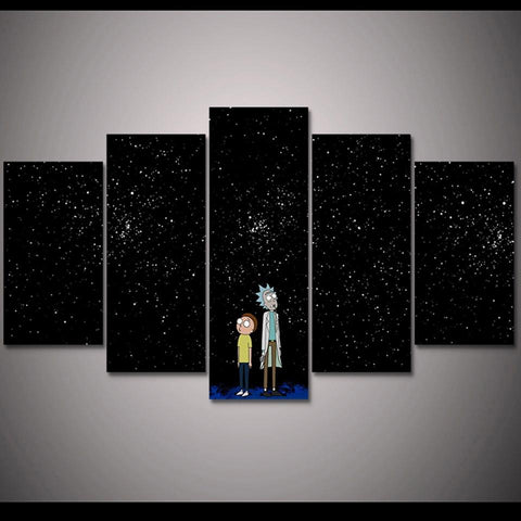 Image of Rick And Morty Starry Night Sky Canvas Wall Art