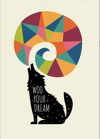 Image of Colorful Wolf Wall Art