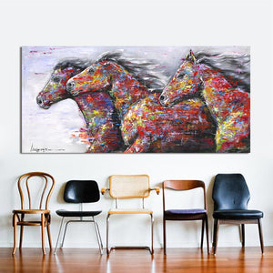 Horses Glow Canvas Wall Art