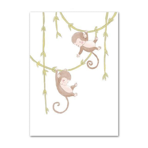Hanging Cute Little Monkeys