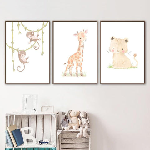 Cute Baby Giraffe Wall Art