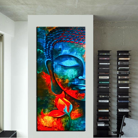 Image of Colorful Buddhism Portrait