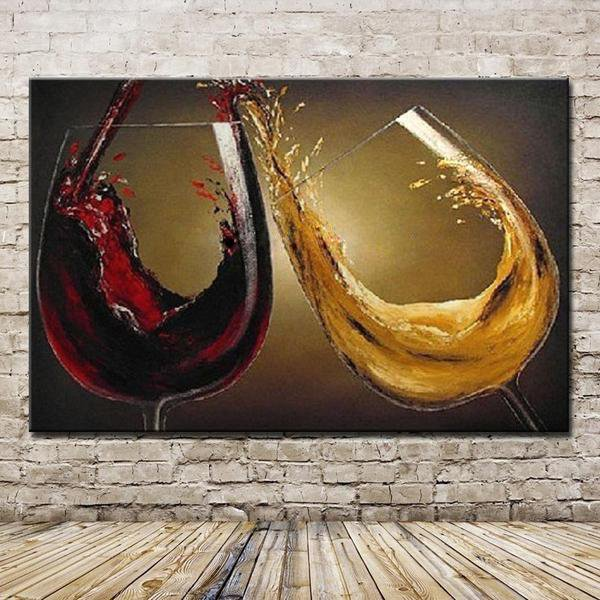 Large Red Wine Glass Wall Art