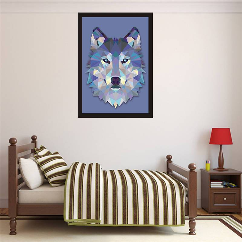 Geometric Cool Wolf Head