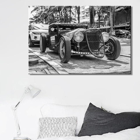 Black and White Classical Car Wall Art