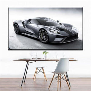 Black Modern Car Wall Art