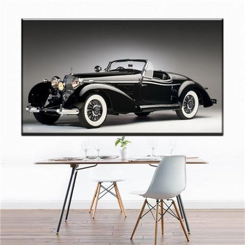 Black Classic Car Wall Art