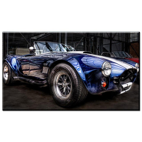 Blue Classic Car Wall Art