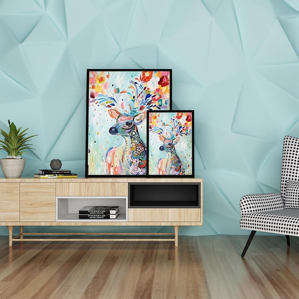 Colorful Deer Stag Wall Art