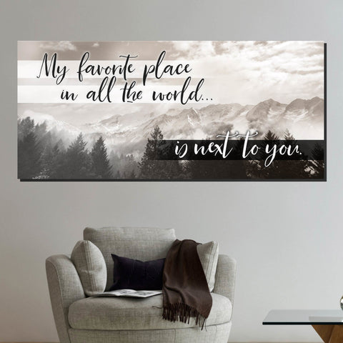 Image of My Favorite Place In The World Wall Art