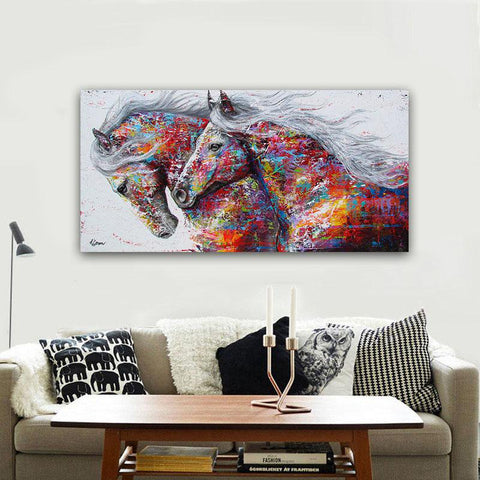 Image of Running Horses Canvas Wall Art The No #1 BEST SELLER