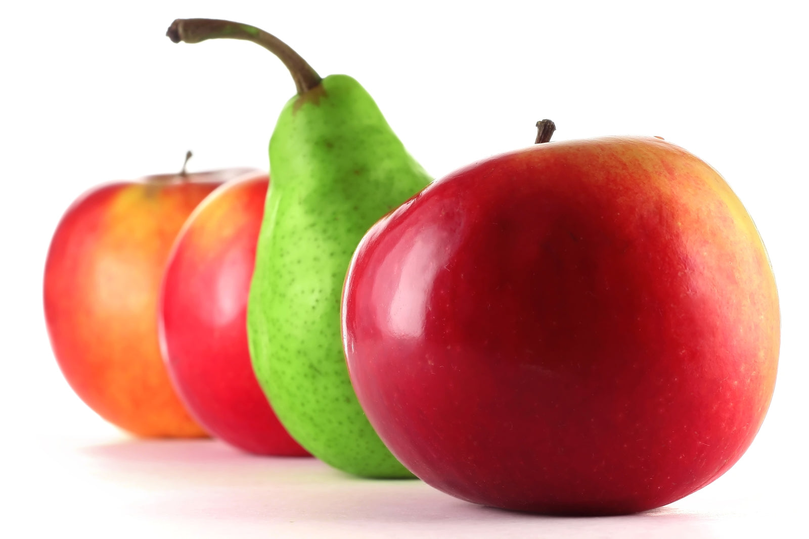 Apples and pears to show different body types in fat loss