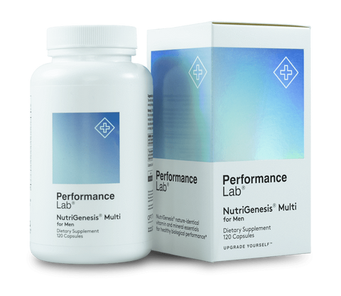 The bottle of box packaging of Performance Lab Multi for Men