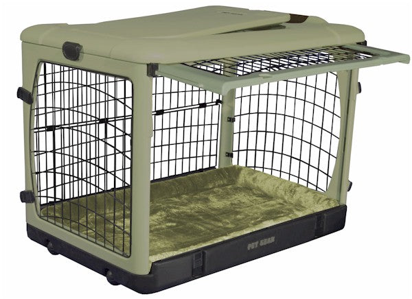 Deluxe Steel Dog Crate with Bolster Pad - Gentle Giant Pet Supply