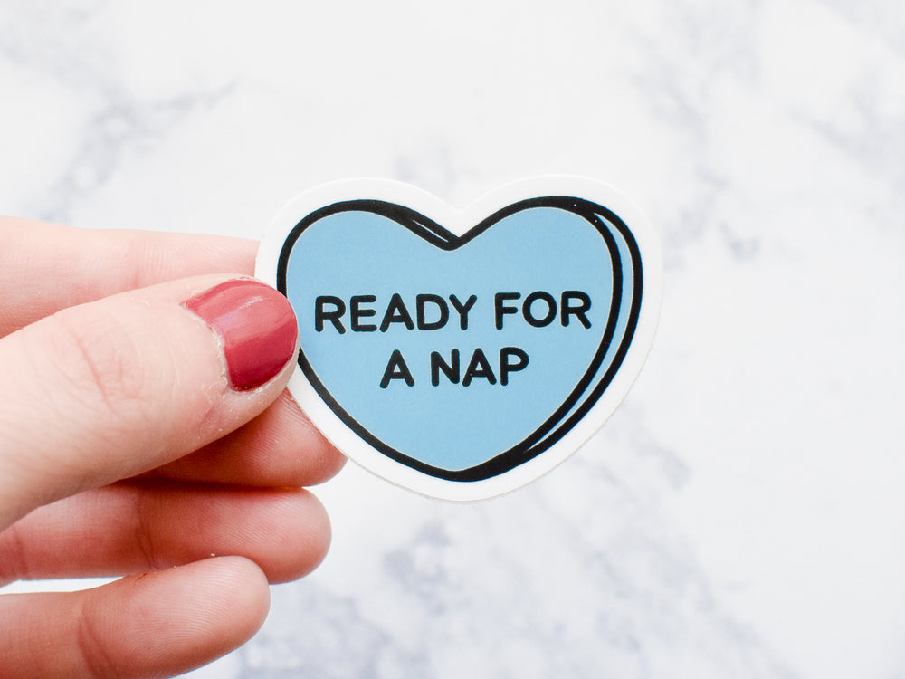 Ready for a Nap Sweetheart Style Sticker