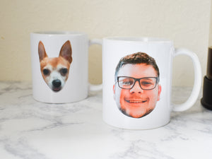 Face Mugs | Funny Gift for Boyfriends | Funny Gift for Girlfriends