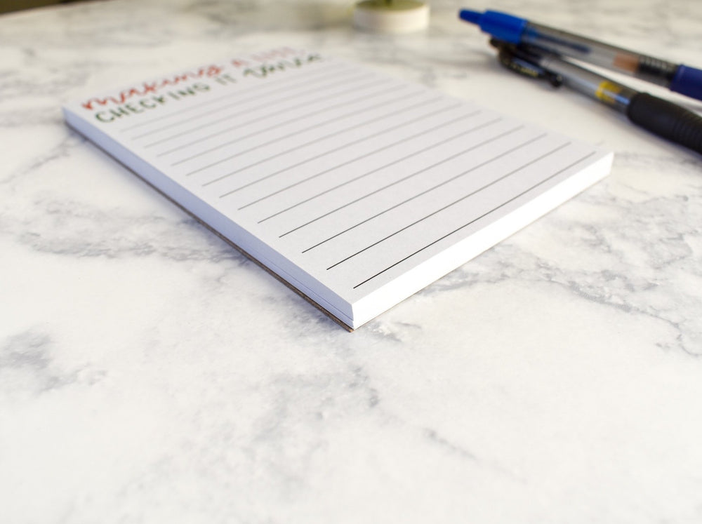 Making a List, Checking It Twice Notepad