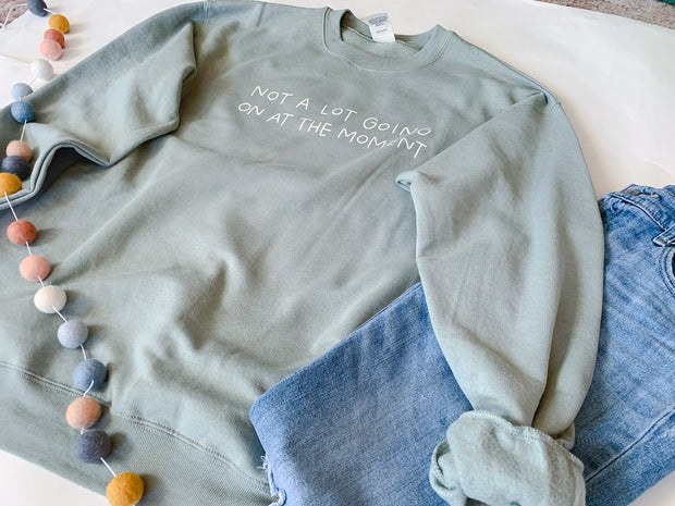 Not A Lot Going On Sweater (Sage Green) 1