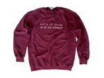 Not A Lot Going On Sweater (Maroon)