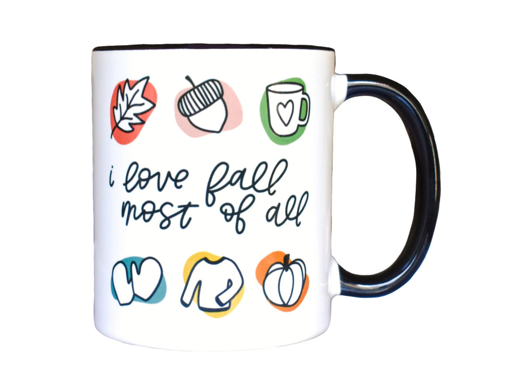 I Love Fall Most Of All Mug