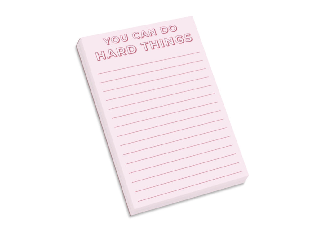 You Can Do Hard Things Notepad