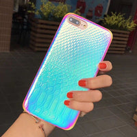 Holographic Soft Crocodile Skin Phone Case / Cover for iPhone models