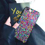 Rainbow Glitter Soft Silicone Phone Case For iPhone