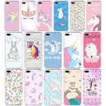 Unicorn Soft Silicone Cover for iPhone  6 6s 7 8 plus - variety of styles