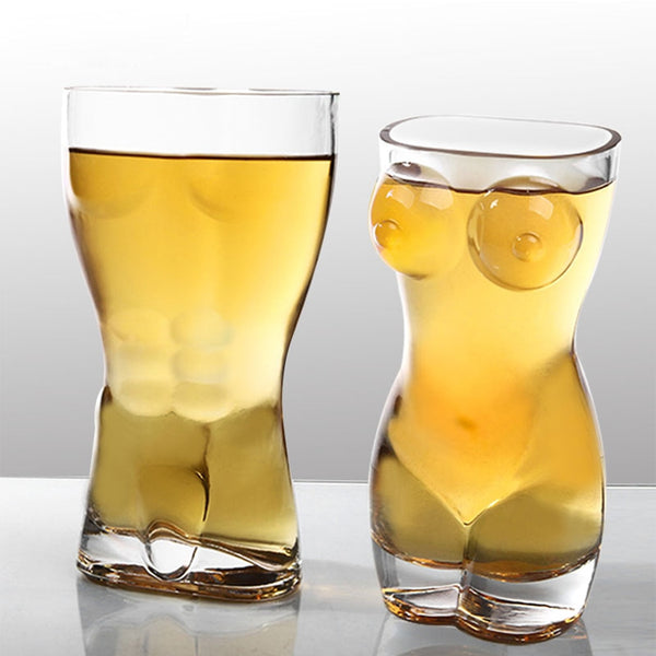Double Wall Sexy Naked Shot or Beer Glasses - Man or Woman