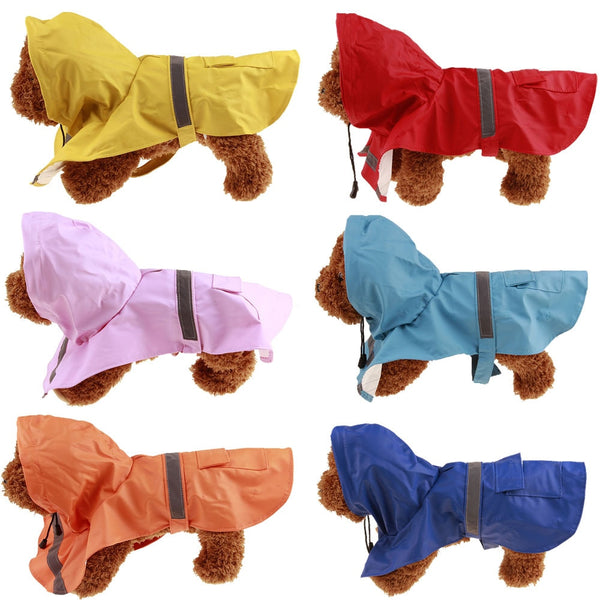 Dog Raincoat Waterproof Coat XS - 5XL - 6 colours