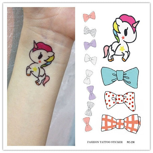 Waterproof Temporary Tattoo Unicorn Sticker