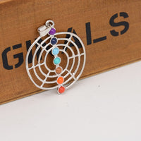 Chakra Stones Pendant Necklace with Chain - 10 styles
