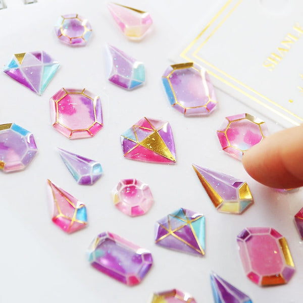 Crystal Diamond 3D Sticker Sheet