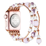 Stretch Beaded Crystal Bracelet Band for Apple Watch - 4 styles, 2 widths