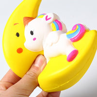 Soft Squishy Unicorn Slow Rising Fun For Children - Pink or Yellow