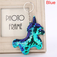 Glitter Unicorn Soft Sequins Key Ring / Key Chain - 5 colours