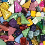 Colourful Glitter Mosaic Tiles - 120g pack