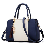 Tri-colour Leather Handbag / Crossbody Bag - 5 colours