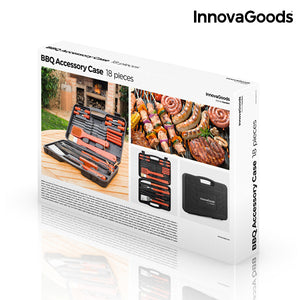 InnovaGoods Barbecue Accessory Case (18 Pieces)