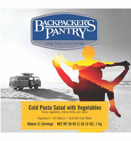 BACKPACKER'S PANTRY #10 CAN COLD PASTA SALAD WITH VEGETABLES