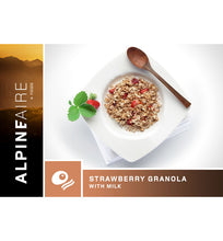 Load image into Gallery viewer, ALPINEAIRE STRAWBERRY GRANOLA WITH MILK