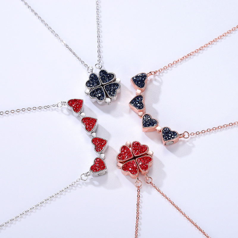 (Buy 2 Free Shipping)Folding Pendant | Four Leaf Clover Necklace
