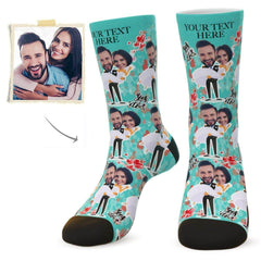 Custom Face Socks Yes I Do With Your Text - Best Gifts For Wedding Party