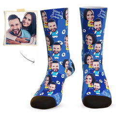 """""""You're My Love"""" Face Socks - Personalized Wedding Party Gifts"""