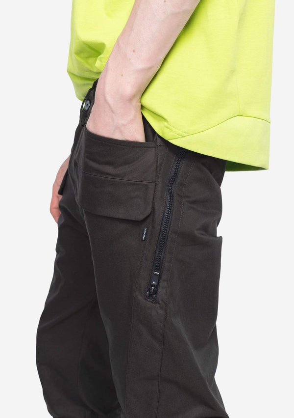 MyPicSocks Casual Pants CARGO PANTS - THOLIN - COTTON-NYLON BLEND STRAIGHT  - GREEN
