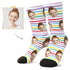 MyPicSocks Custom Face Socks L (Women's 12+ / Men's 10-13) Custom Birthday Face Socks - Best Personalized Birthday Gifts