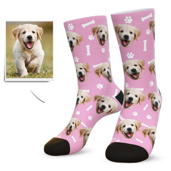 MyPicSocks Custom Face Socks Pink / L (Women's 12+ / Men's 10-13) Custom Dog Face Socks - Gifts For Dog Lovers